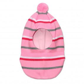 Шапка-шлем демисезонный Женя, розовый