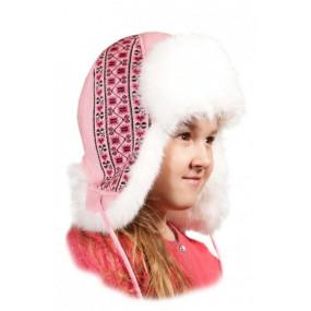 Шапка зимняя Вышиванка, розовый