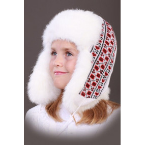 Шапка зимняя Вышиванка, белый
