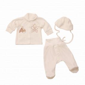 Комплект из велюра для новорожденных Звезда (3 предмета)