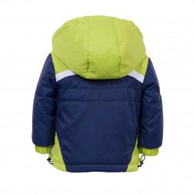Куртка демисезонная для мальчика Goldy (синий-салатовый, 80-98 см)
