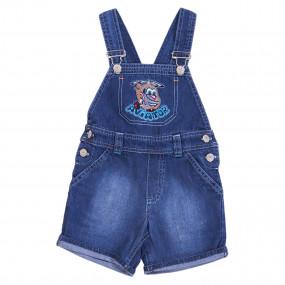 """Комбинезон-шорты джинс """"Авиатор"""" для мальчика (80-92) GD0185"""