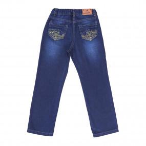 Брюки для девочки GD0191 (98-122, джинс)