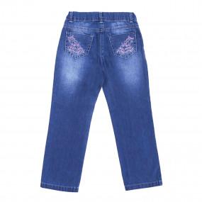 Брюки для девочки GD0192 (98-122, джинс)