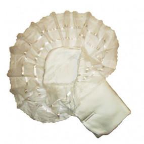 """Конверт-одеяло """"Вуаль"""" (весна-осень), молочный 80 х 80 см"""