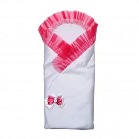 Конверт-одеяло Бантик (весна-осень), розовый 80 х 80 см