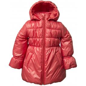 Пальто демисезонное для девочки GLOSSY (коралл)