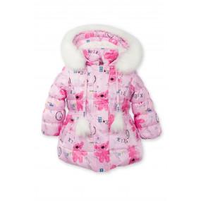 Куртка зимняя Happy Bears для девочки (подстежная овчина) Goldy