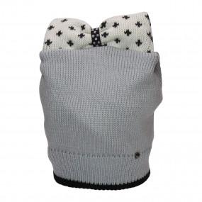 Шапка зимняя Бритни (вязка на синтепоне), серый