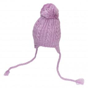 Комплект зимний Сэмми (шапка, манишка), лиловый
