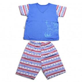 Комплект для мальчика КРУИЗ, ярко-голубой