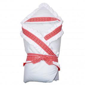 Конверт-одеяло Вышиваночка (зима), красный