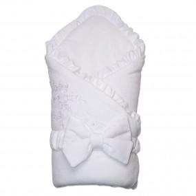 Конверт-одеяло велюр на флисе FRANCE-2 для новорожденного