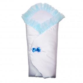 Конверт-одеяло Бантик (весна-осень), голубой 80 х 80 см