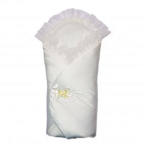 Конверт-одеяло Бантик (весна-осень), молочный 80 х 80 см