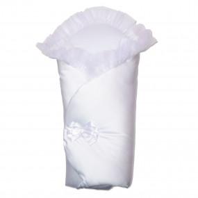 Конверт-одеяло Бантик (весна-осень), белый 80 х 80 см