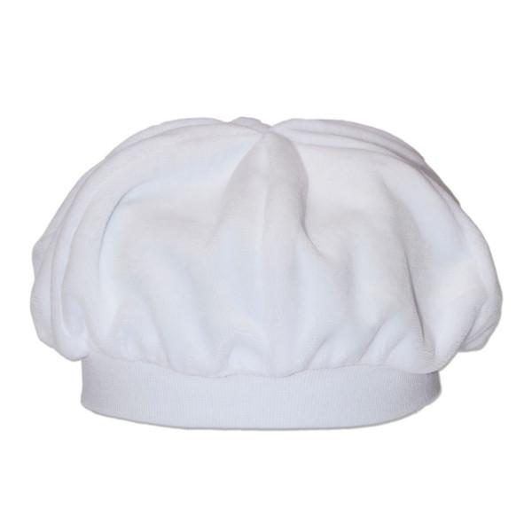 Берет нарядный для мальчика (белый) велюр