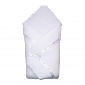 Конверт-одеяло Ласточка велюр на синтепоне (зимний), белый 80 х 80 см