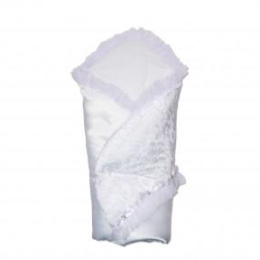 Конверт-одеяло Сяйво атлас-гипюр (зимний), белый 80 х 80 см