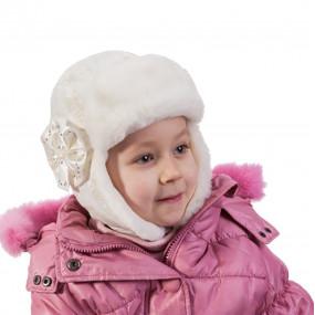 Шапка зимняя Berta (плащевка на инсулейте), экрю