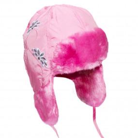 Шапка зимняя Agata (плащевка, вышивка), розовый