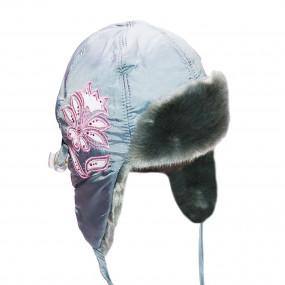 Шапка зимняя Anitta (плащевка, вышивка), серый