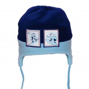 Шапка зимняя для мальчика Snowman (флис, инсулейт), сине-голубой