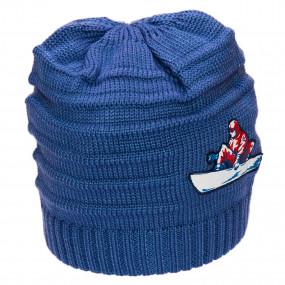 Шапка зимняя двухслойная Jonathan (100% мериносовая шерсть), серо-голубой