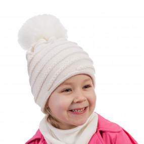 Шапка зимняя для девочки Hanna (100% мериносовая шерсть), шампань