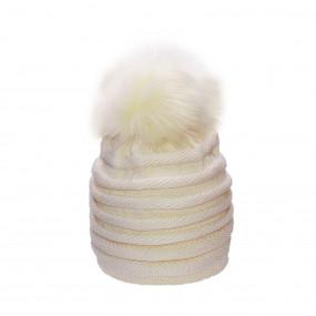 Шапка зимняя для девочки Luiza (100% мериносовая шерсть), шампань