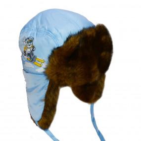 Шапка зимняя для мальчика Michael (плащевка), голубой