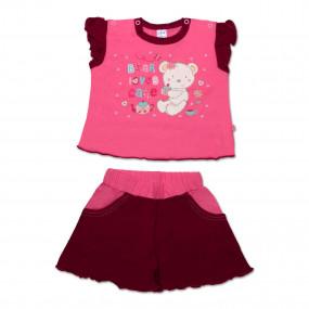 Комплект для девочки Cakes (майка и шорты), розовый