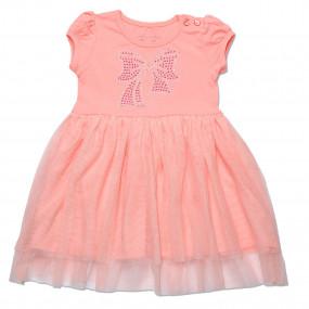 Платье нарядное Bow Baby персик 86-110