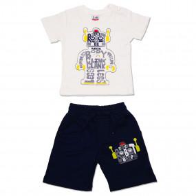 Комплект для мальчика Robot, молочный