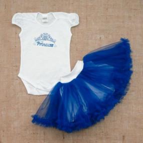 Комплект Princess (юбка из фатина, боди), синий