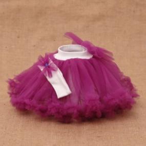 Комплект Rainbow (юбка из фатина, повязка), фиолетовый