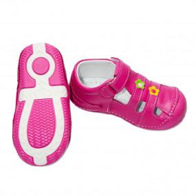 Первая обувь для девочки (кожа, супинатор), фуксия 20 21