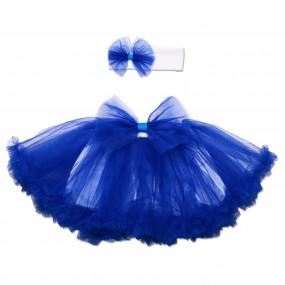Комплект Rainbow (юбка из фатина, повязка), синий