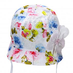Ультралёгкая панама Fleurs (завязки), белый