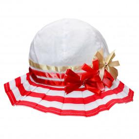 Шляпка летняя Plisse, красный