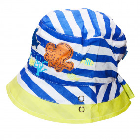 Панама для мальчика Octopus (100% хлопок), синий