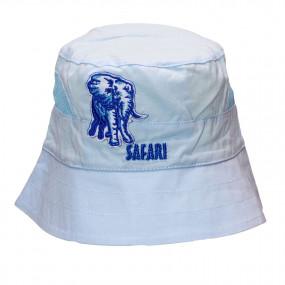 Панама для мальчика Safari (100% хлопок), голубой