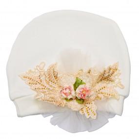 Шапочка нарядная Blossom, Miniworld (0-3 мес)