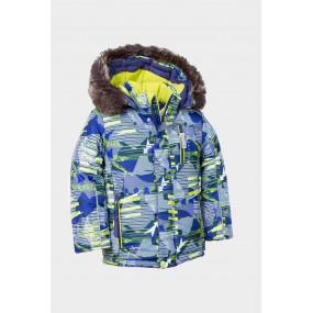 Комплект зимний Bigfoot для мальчика, с подстежкой из овчины (салатово-синий)