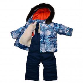 Комплект зимний Skier для мальчика, с подстежкой из овчины (синий)