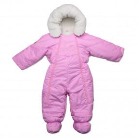 Комбинезон-трансформер Flavien Gloss c вышивкой (на овчине), розовый
