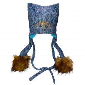 Шапка зимняя Liska (сине-серая)