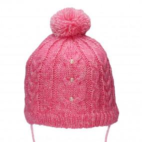 Первая зимняя шапочка Буся (на синтепоне), розовый