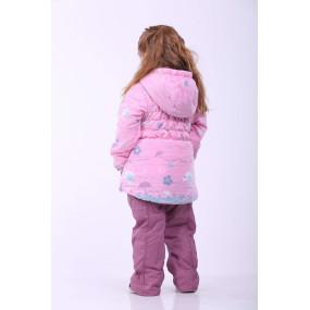 Комплект Роуз демисезонный для девочки (куртка и комбинезон), Goldy