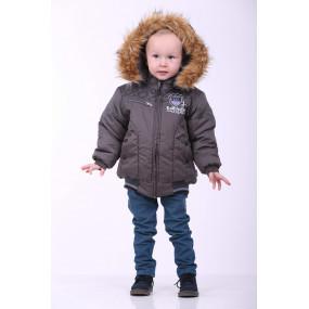 Куртка ENERGY еврозима для мальчика (тёмно-серый), TM Goldy